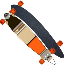 SDS Skateboards Stella Orange Classic Pintail 46""
