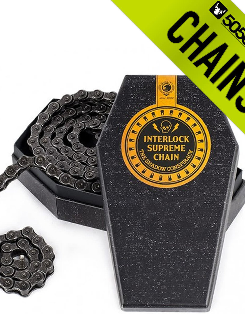 "The Shadow Conspiracy TSC Interlock Supreme Chain 1/8"" Gun Metal"