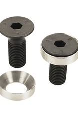 Profile Racing Profile Racing Flush Mount Crank Bolts for Solid Spindle, w/Washers