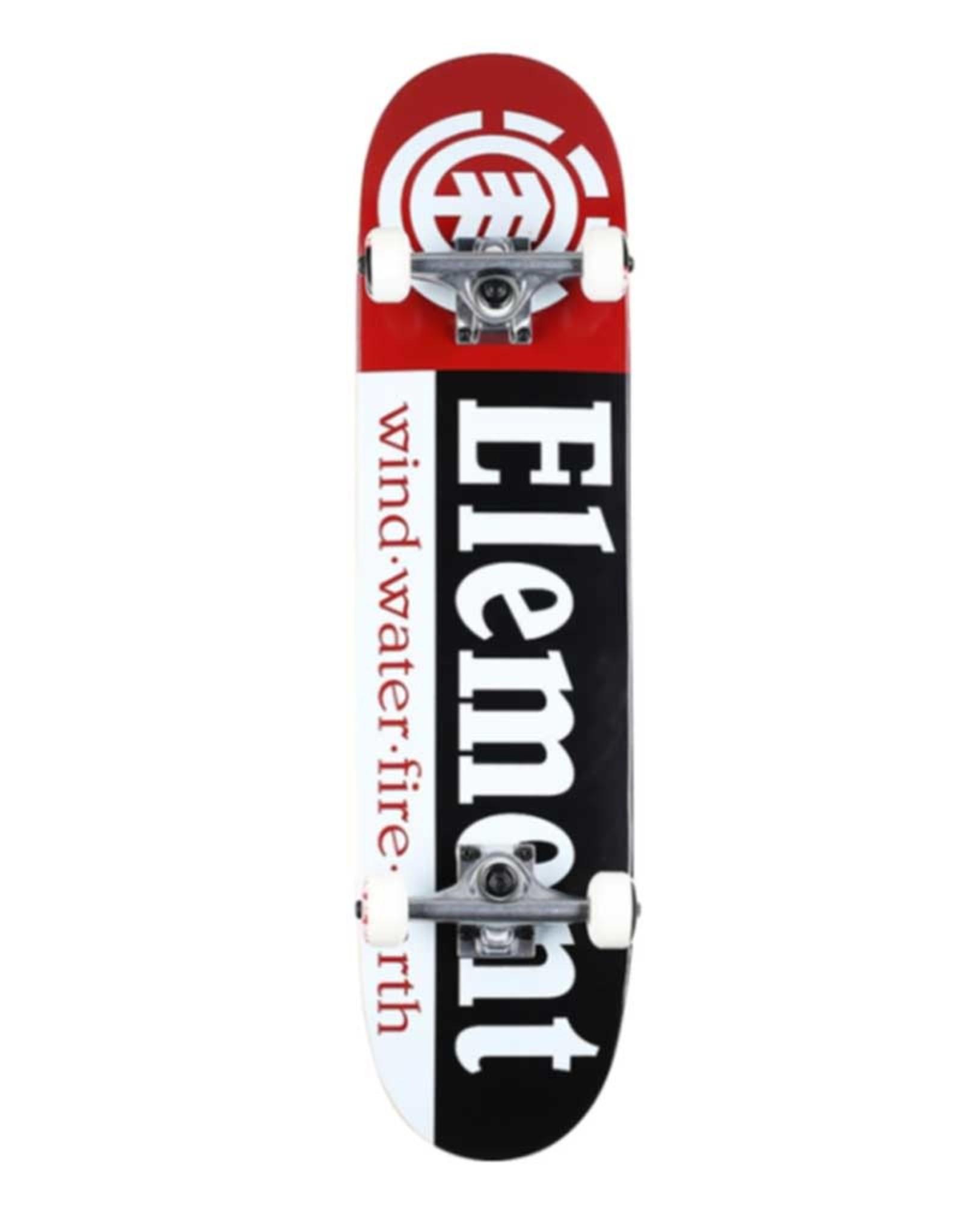 Element Skateboards Element Section Complete BLK/WHT/RED 8.0