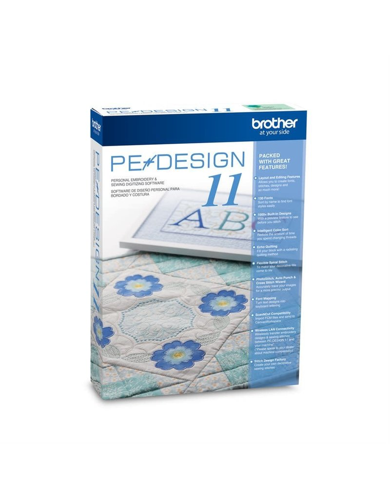 Brother  Brother PE-Design 11 Personal embroidery and sewing digitizing software