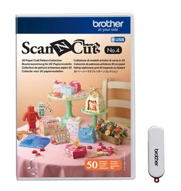 Brother USB No. 4 3D Paper Craft Pattern Collection