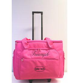 Babylock Pink transport case on wheels Triumph