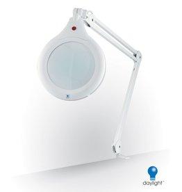 Day Light Ultra-Slim Magnifying Lamp, White, 28w (optionnal support)