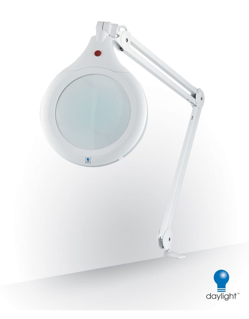 Ultra-Slim Magnifying Lamp, White, 28w (optionnal support)