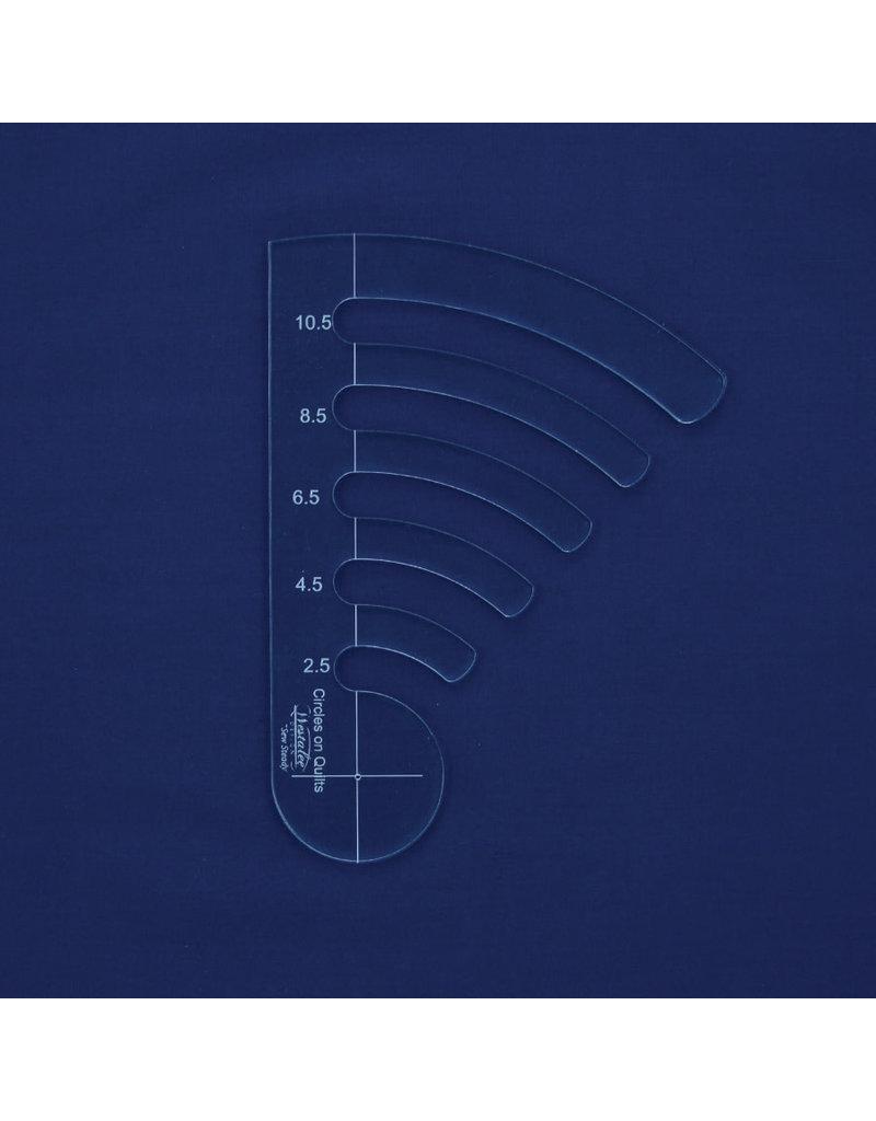 Sew Steady Règle cercles progressif - Ens 2 -2 1/2 -11 1/2 po, High Shank