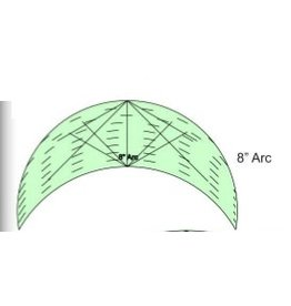 "Sew Steady Arc Template - 8"",  High shank"