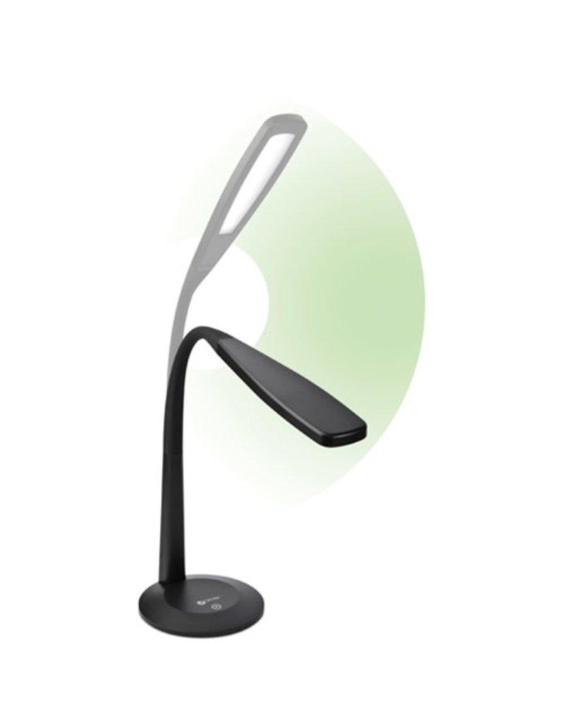 OttLite LED Black Flexible  Lamp