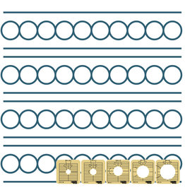 "Sew Steady Circles between the lines Template - 1 1/2"", Low shank"