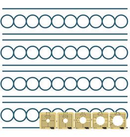 Sew Steady Regle Cercle Entre Les Lignes - 1 Po, Low Shank