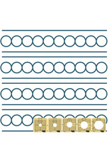 """Sew Steady Circle between the lines template - 1"""", Long arm"""