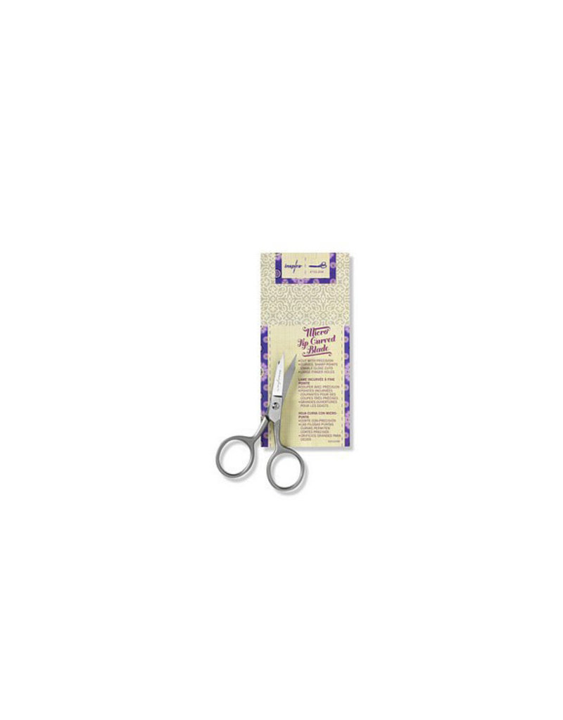 "Inspira INSPIRA® 4"" Large Micro Tip Scissor, Curved"