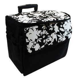 Transport case on wheels black printed