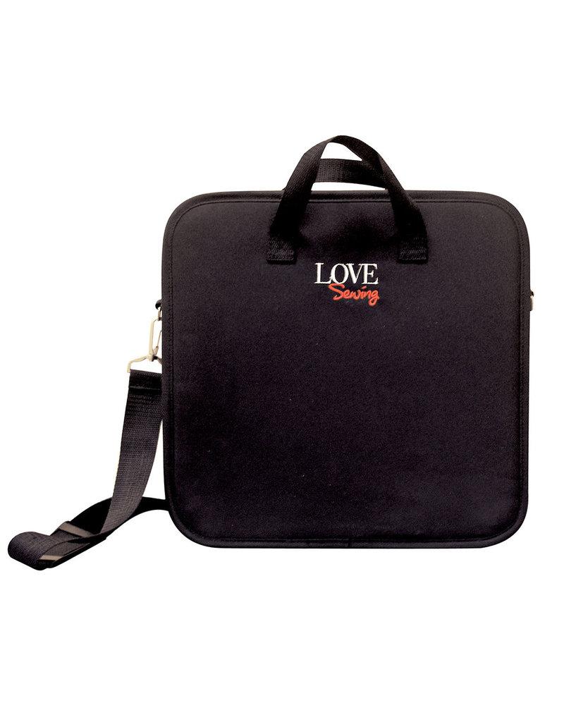 Valise de courtepointière noire LoveSewing (35cm x 34cm x 7.5cm)