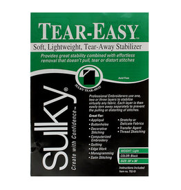 "Sulky Sulky TEAR-EASY soft and lightweight tear-away stabilizer black (20"" X 36"")"