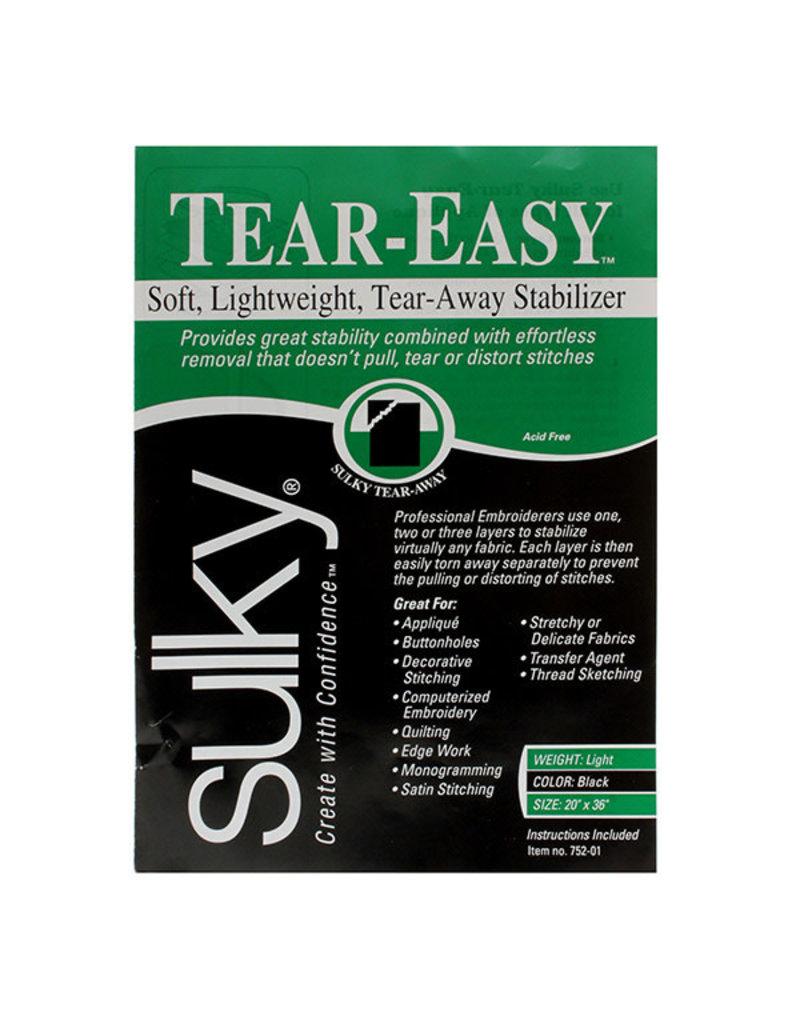 "Sulky Sulky TEAR-EASY black (20"" X 36"") paquet"