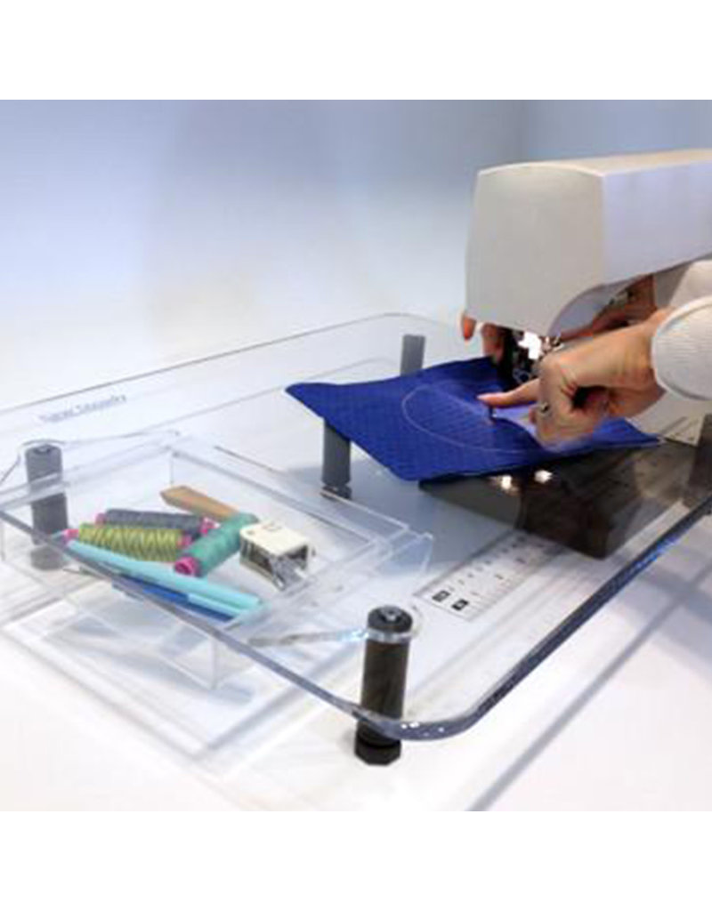 Table de rallonge de luxe SewSteady 18x24 avec pattes pour machines