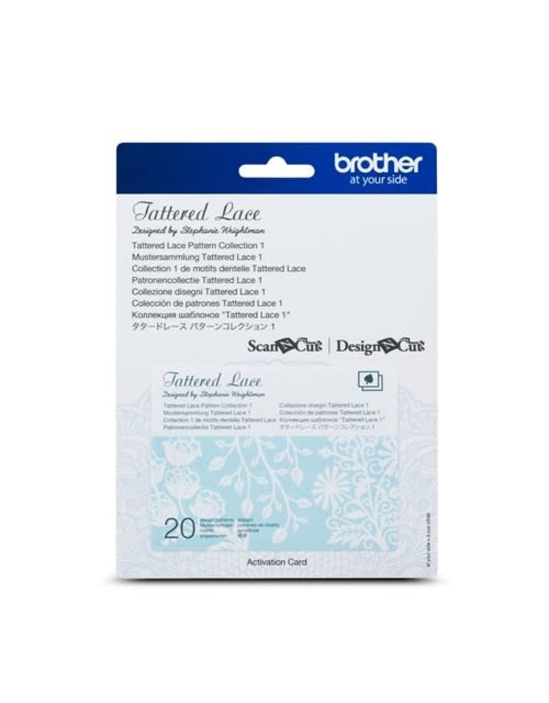 Brother Collection 1 De Motifs Dentelle Tattered Lace ScanNCut
