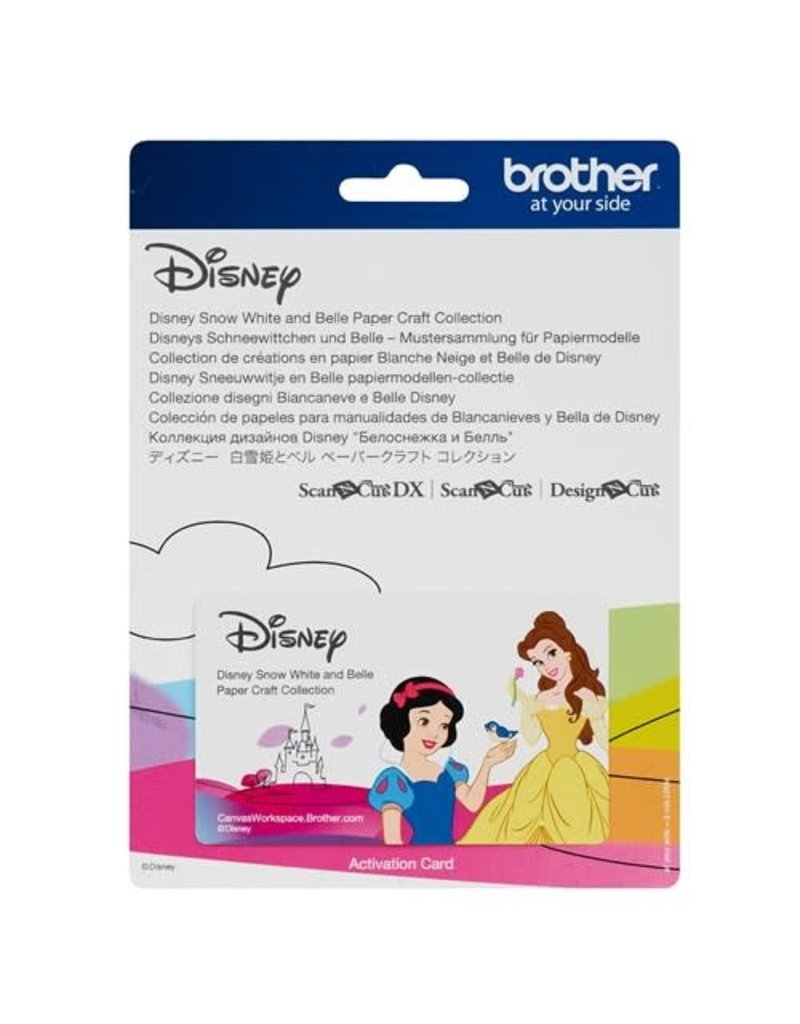 Brother Disney Snow White and Belle Paper Craft Collection for  ScanNCut CM550-CM650-SDX225