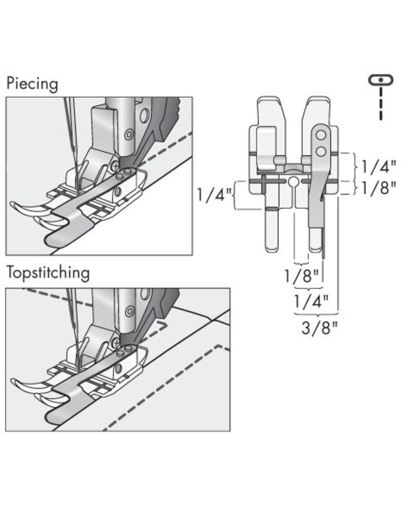 Pfaff 308-4B PFAFF Pied quilting 1/4 transparent guide-bord avec système IDT™