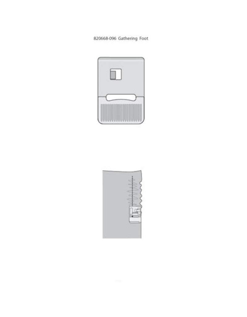 Pfaff 308-9C PFAFF Pied fronceur métallique