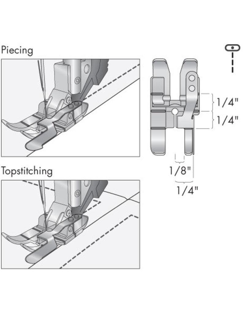 Pfaff 308-6B PFAFF Pied quilting 1/4 guide bord droit avec système IDT™