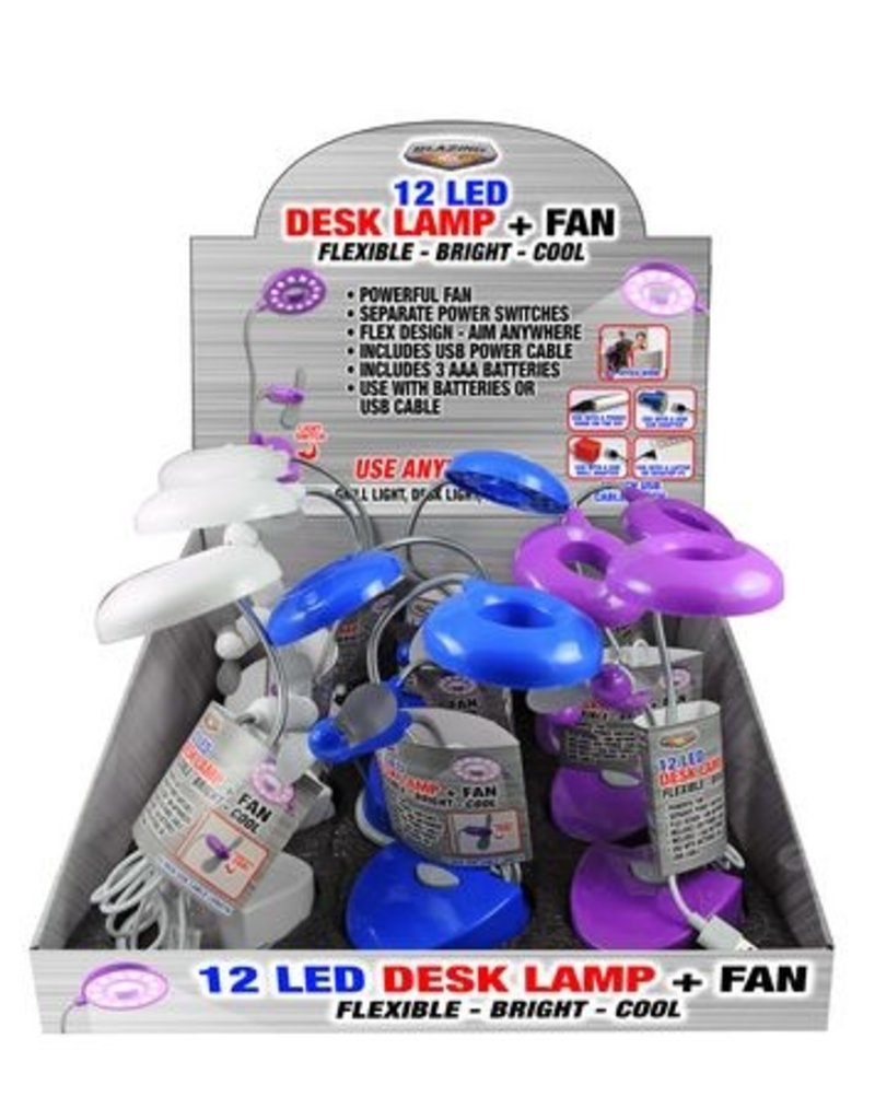 Desklamp with fan display