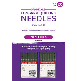 Handi Quilter Standard longarm needles – Two packages of 10 (20/125-R, Sharp)