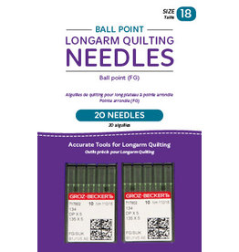 Handi Quilter Ball point longarm needles – Two packages of 10 (18/110-FB, Ball Point)