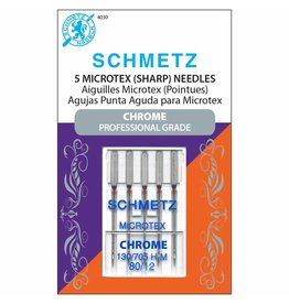 Schmetz Aiguilles de chrome microtex Schmetz - 80/12