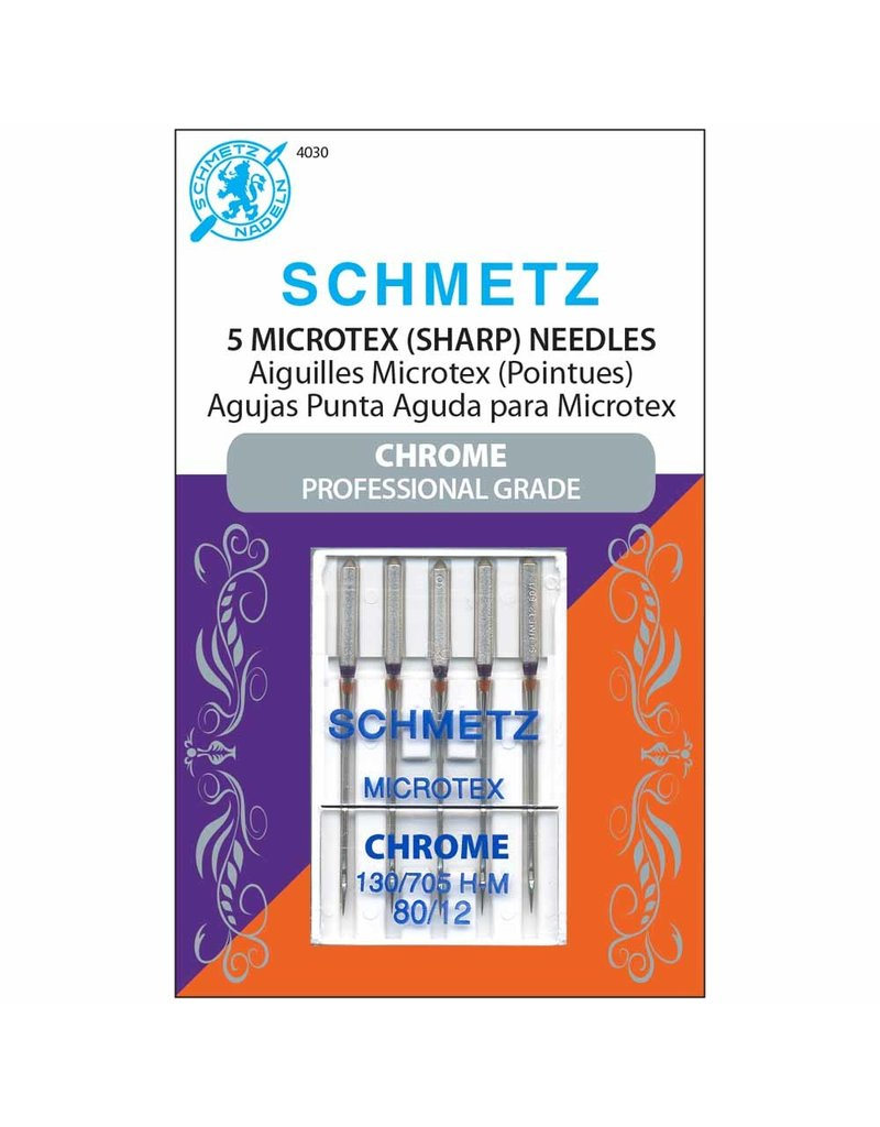 Schmetz Schmetz chrome microtex needles - 80/12