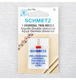 Schmetz Aiguilles Schmetz Double Universelle 80/12, 4 mm