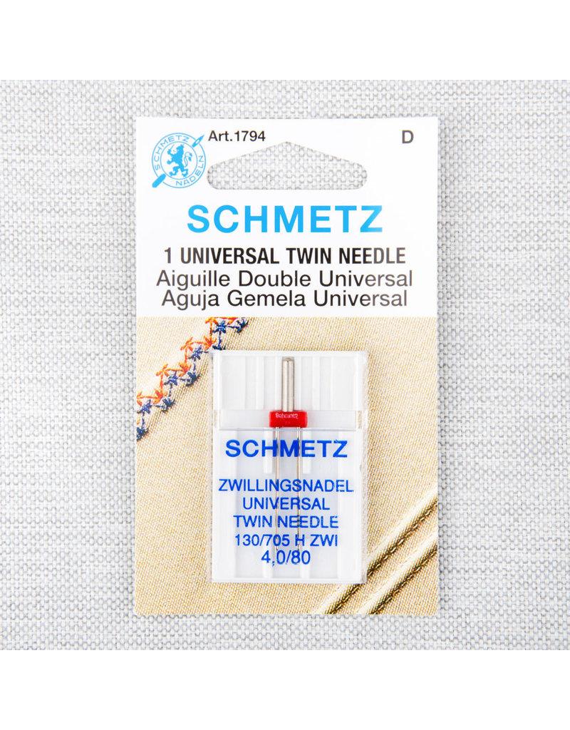 Schmetz Aiguille universelle double Schmetz - 80/12, 4 mm