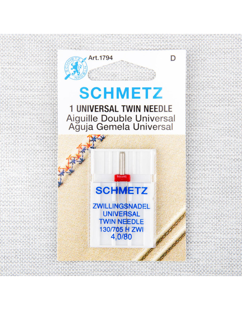 Schmetz Schmetz universal twin needle - 80/12, 4 mm