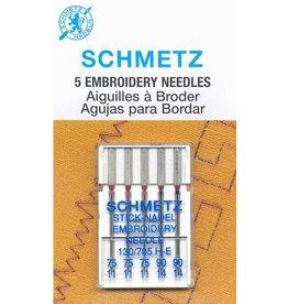 Schmetz Aiguille à broder Schmetz - Grosseurs assorties, 75/11 à 90/14