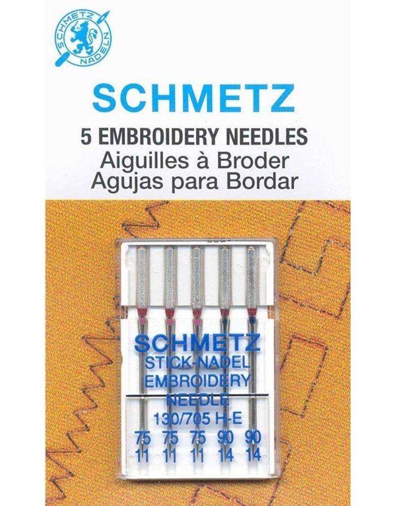 Schmetz Schmetz embroidery needles - Assorted sizes, 75/11 to 90/14
