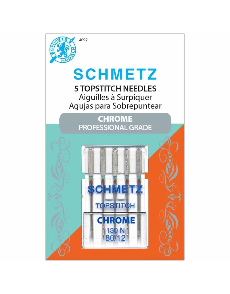 Schmetz Schmetz needles Chrome topstitch 80/12