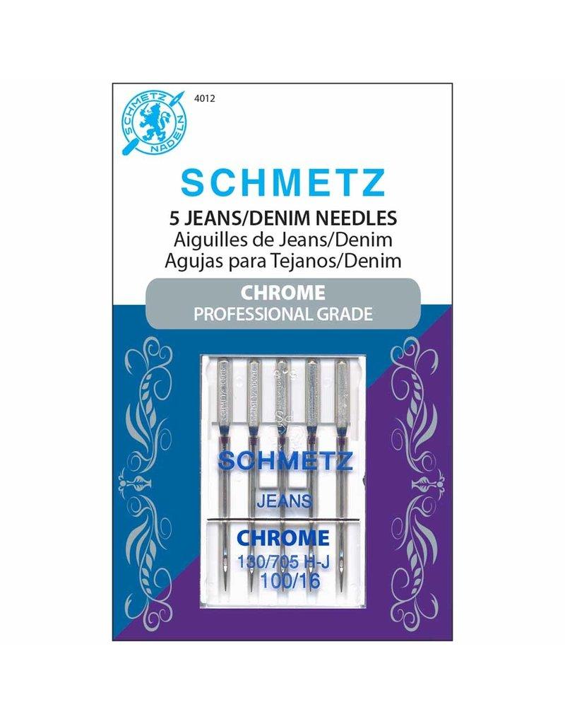 Schmetz Aiguilles de chrome à denim Schmetz - 100/16