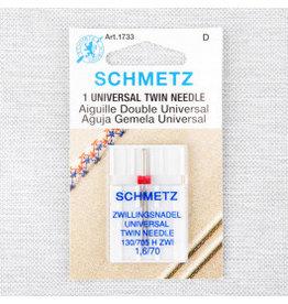 Schmetz Schmetz universal twin needle - 70/10 - 1.6 mm