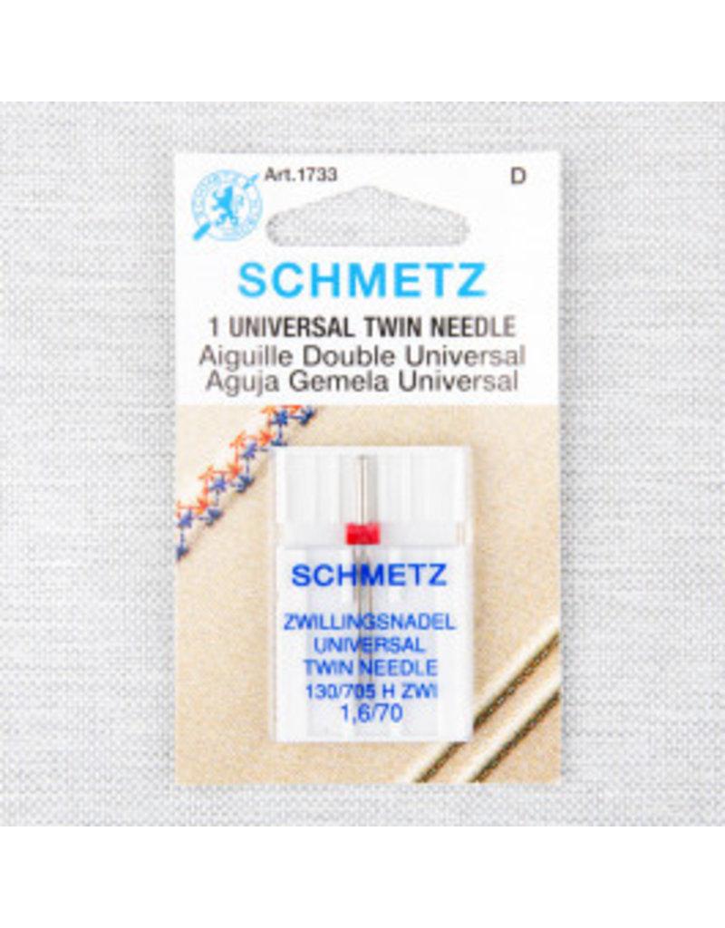 Schmetz Aiguille universelle double Schmetz - 70/10, 1.6 mm