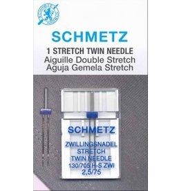 Schmetz Aiguilles Schmetz Double à Extensible 75/11, 2.5 mm