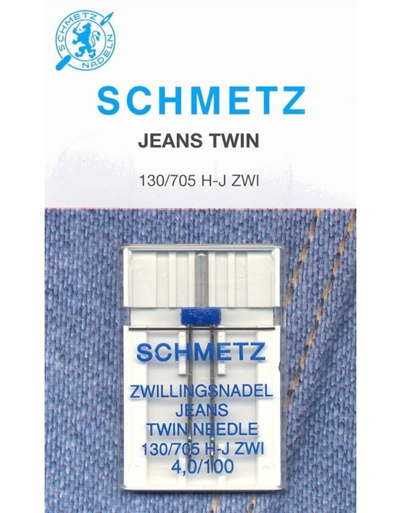 Schmetz Aiguille double à denim Schmetz - 100/16, 4mm