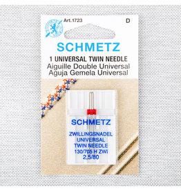 Schmetz Aiguille universelle double Schmetz - 80/12, 2.5 mm