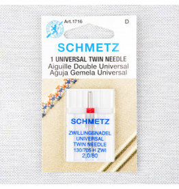 Schmetz Schmetz universal twin needle - 80/12, 2 mm
