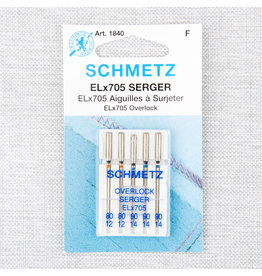 Schmetz Schmetz needles serger ELx705 80/12 to 90/14