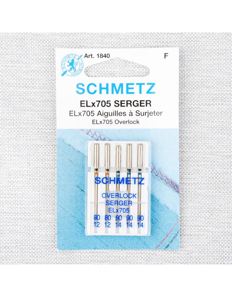 Schmetz Schmetz needles serger ELx705 80/12 to 90/14