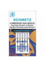 Schmetz Aiguilles à broder en titane or Schmetz - 75/11