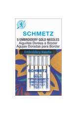 Schmetz Schmetz gold titanium  embroidery needles - 75/11