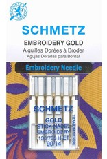 Schmetz Schmetz embroidery gold titanium needles - 90/14