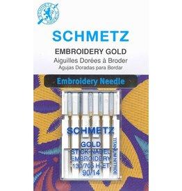 Schmetz Schmetz embroidery gold titanium needles - 90/14